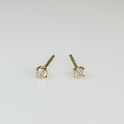 14K Yellow Gold Yellow Diamond Stud Earrings 0.10ct