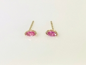 14K Yellow Gold Marquise Ruby Stud Earrings 0.35ct