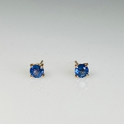 14K Rose Gold Blue Sapphire Stud Earrings 0.75ct