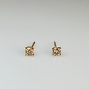 14K Rose Gold Diamond Stud Earrings 0.15ct