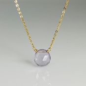 Rose Cut Pink Amethyst Necklace 8x10mm