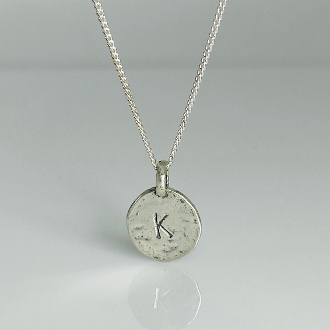 "Initial Necklace - 26"" Silver"