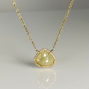 14K Yellow Gold Yellow Diamond Drop Necklace 2.28ct/0.94ct