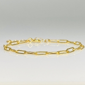Gold Filled Paper Clip Chain Bracelet - Large Link