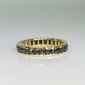 14 Karat Yellow Gold Black Diamond Eternity Band (2.30ct)