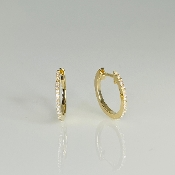 14 Karat Yellow Gold Diamond Huggie Earrings (0.10ct) 14mm