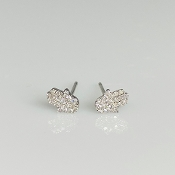 14 Karat White Gold Diamond Hamsa Earrings (0.12ct)