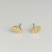 14 Karat Yellow Gold Diamond Hamsa Earrings (0.12ct)