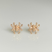 14K Rose Gold Diamond Spider Earrings (0.22ct)