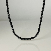 Black Spinel Long necklace 3mm