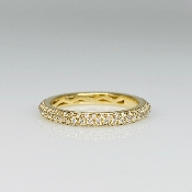 14K Yellow Gold Pave Diamond Eternity Band 0.64ct