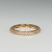 14K Rose Gold Pave Diamond Eternity Band 0.64ct