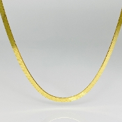 18K Yellow Gold Plated Herringbone Necklace