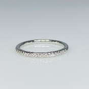 14K White Gold Diamond Half Eternity Band 2mm