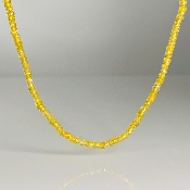 14K Yellow Gold Yellow Sapphire Beaded Necklace 3mm