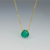 Green Onyx Necklace (8mm)