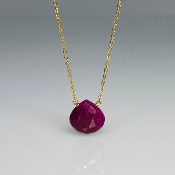 Ruby Necklace (10mm)