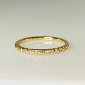 14K Yellow Gold Half Eternity Diamond Band 0.12ct