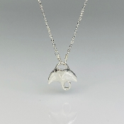 Black Diamond Manta Ray Necklace