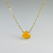 Mexican Fire Opal Necklace 8mm