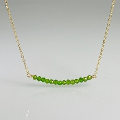 Chrome Diopside Bar Necklace