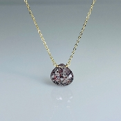 Moss Amethyst Drop Necklace 10mm
