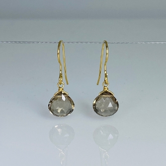 Smoky Quartz Drop Earrings 7mm