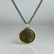 Ancient Coin Pendant (South Britain Celtic Coin 270-300A.D.)