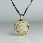Authentic Solid Silver Coin Pendant (Malaysia 1926)