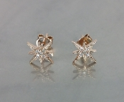 14K Rose Gold Diamond North Star Earring - SINGLE STUD 0.02ct