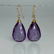 Pear Shape Color Changing Hydro Quartz Earrings 15x25mm