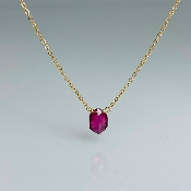 14 Karat yellow Gold Pink Tourmaline Necklace