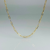 Gold Filled Paper Clip Chain Small Link Size 16-18