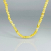 14K Yellow Gold Ethiopian Opal Bead Necklace