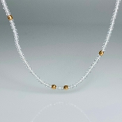 14K Rose Gold White Topaz Necklace (2mm)