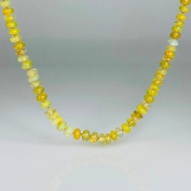 14K Yellow Gold Graduated Ethiopian Opal Necklace