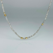 14K Yellow Gold Labradorite Bead Necklace