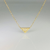 14K Yellow Gold Diamond Pyramid Necklace (0.20ct)