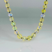 "14 Karat Yellow Gold Ethiopian Opal Graduated Necklace (16"")"