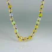 "14 Karat Yellow Gold Ethiopian Opal  Graduated Necklace (20"")"